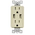 Tamper Resistant USB Charge Decorative Receptacles